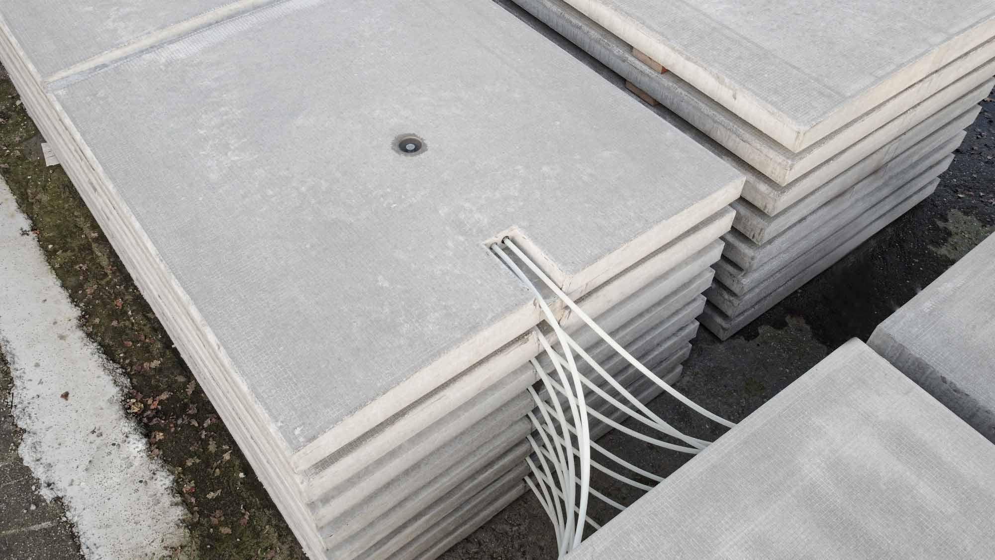 Verwarmingsplaten elementen antislip beton g van beek