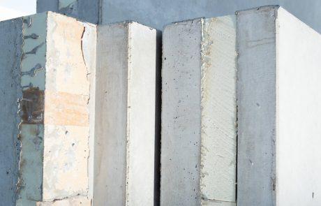 geïsoleerde betonwanden