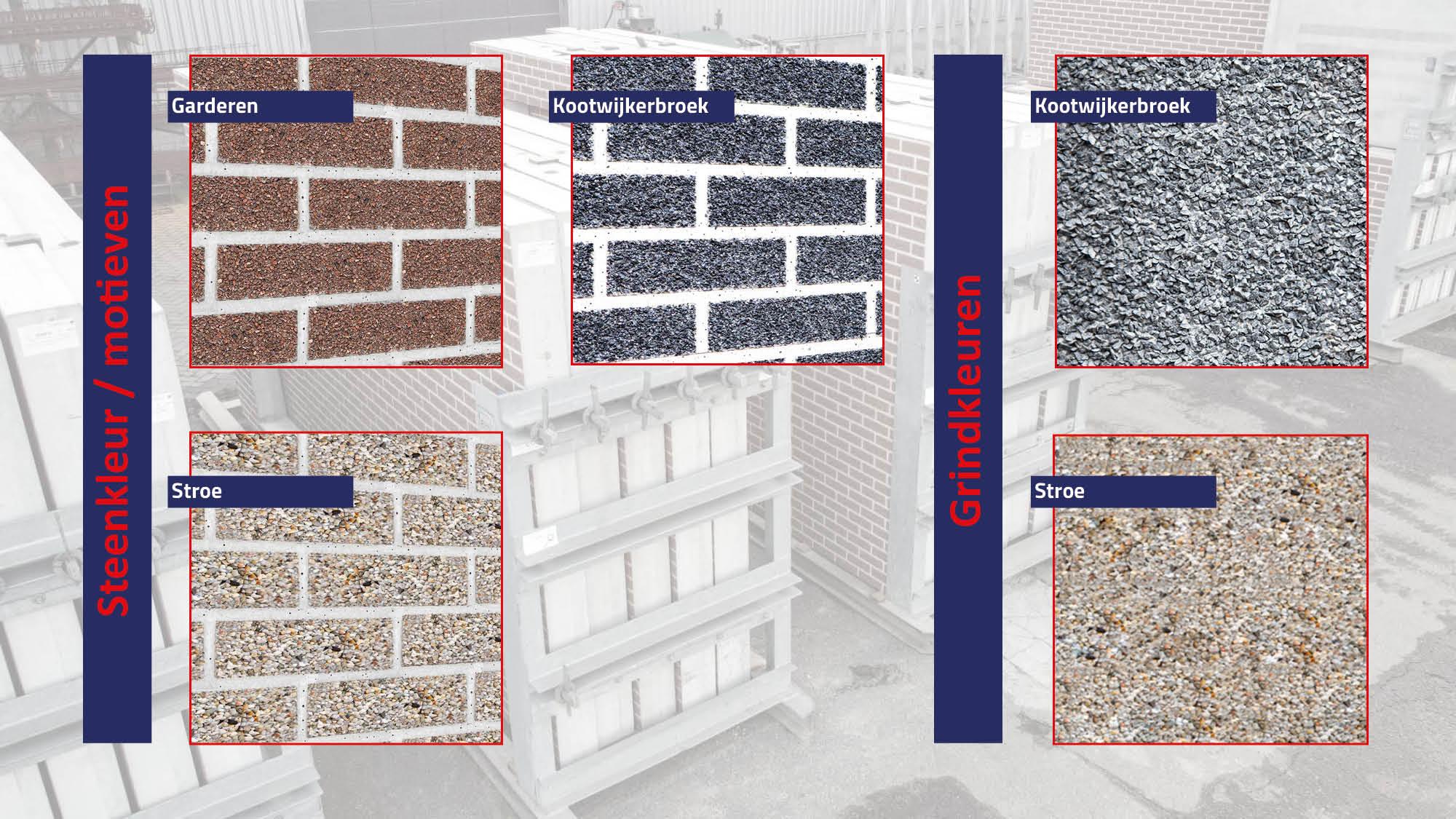 steenmotief grind afwerking prefab beton